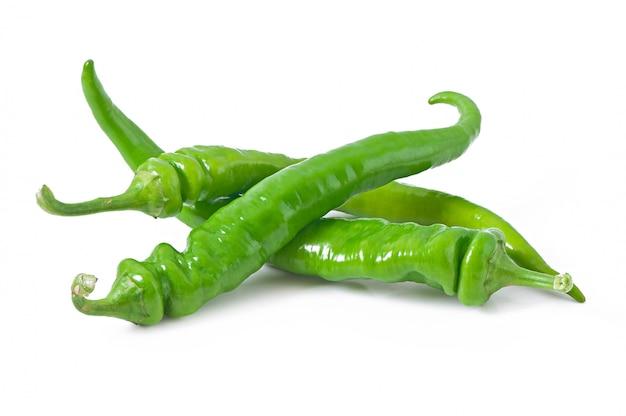 Grüne chilischoten