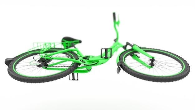Grüne fahrradunteransicht 3d illustration