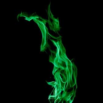 Grüne flamme des feuers