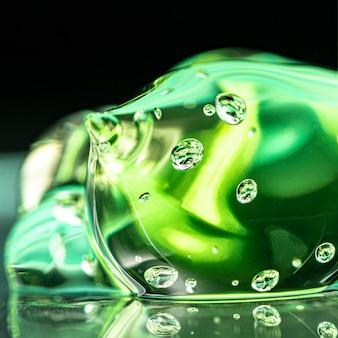 Grüne hygiene saubere gel textur
