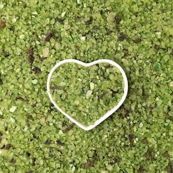 Grüne meersalzkristalle