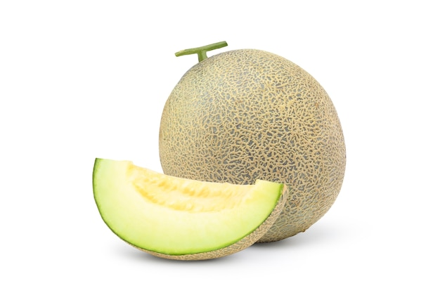 Grüne melone mit scheiben