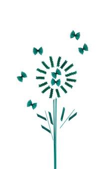 Grüne nudelprodukte mit spirulina oder chlorella