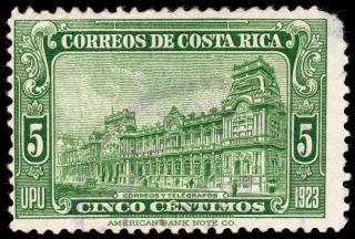 Grüne postgebäude stempel