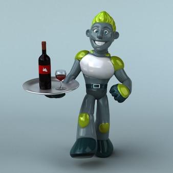 Grüne roboteranimation