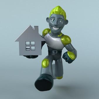 Grüne roboterillustration