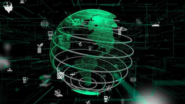 Grüne umweltfreundliche technologie abstrakt
