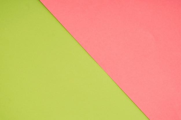 Grüne und rosa pastellpapierfarbe für hintergrund