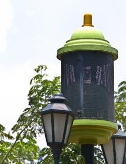 Grünen garten lampe