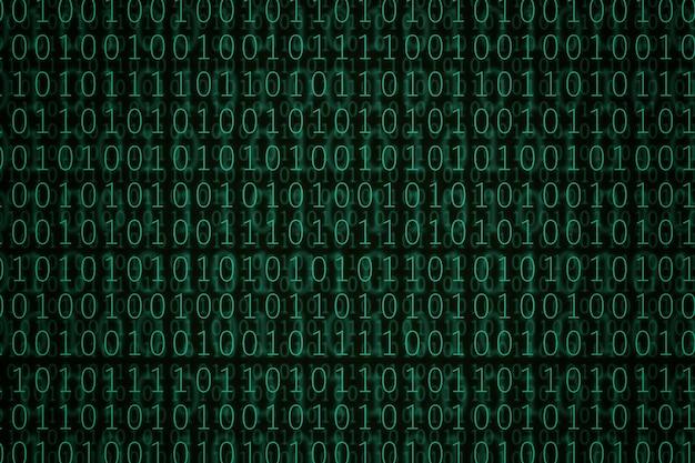 Grüner binärcode-hintergrund.