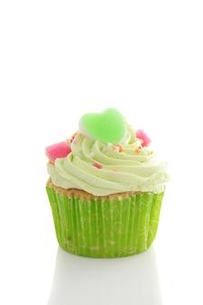 Grüner cupcake