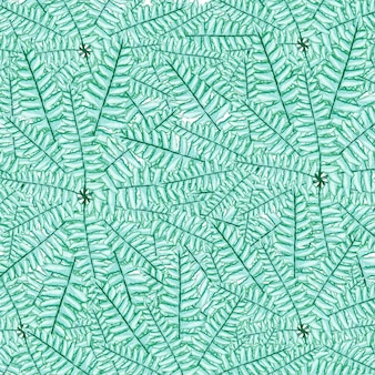 Grüner farn-aquarellfarbe frischer frühlingsnaturhintergrund