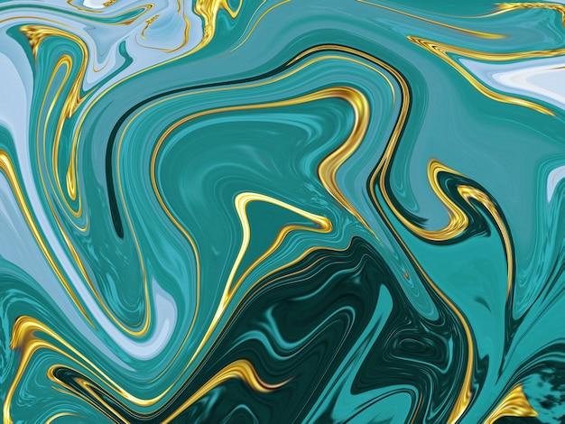 Grüner flüssiger marmorbeschaffenheitshintergrund