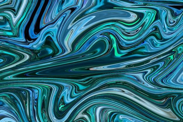 Grüner flüssiger marmorhintergrund diy fließende textur experimentelle kunst