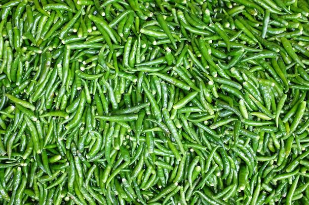 Grüner frischer paprikahintergrund