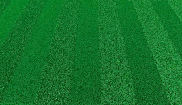 Grüner gestreifter rasen des 3d-renderings zum fußballspielen