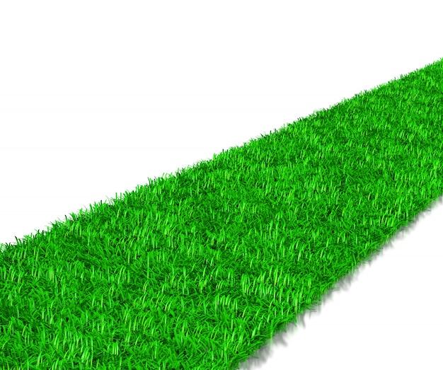 Grüner grasweg