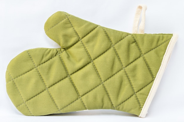 Grüner ofenhandschuh
