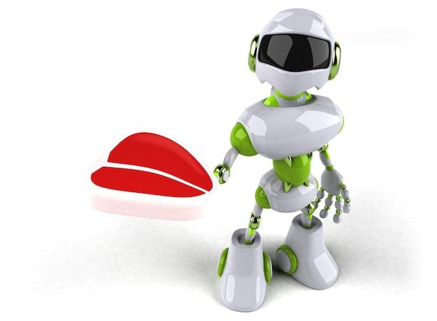 Grüner roboter - 3d-charakter