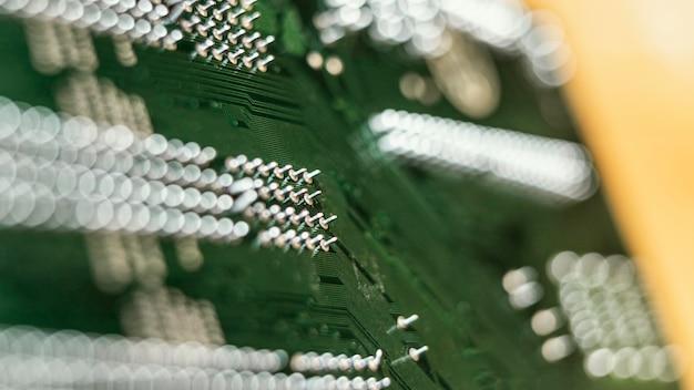 Grüner technologiehintergrund
