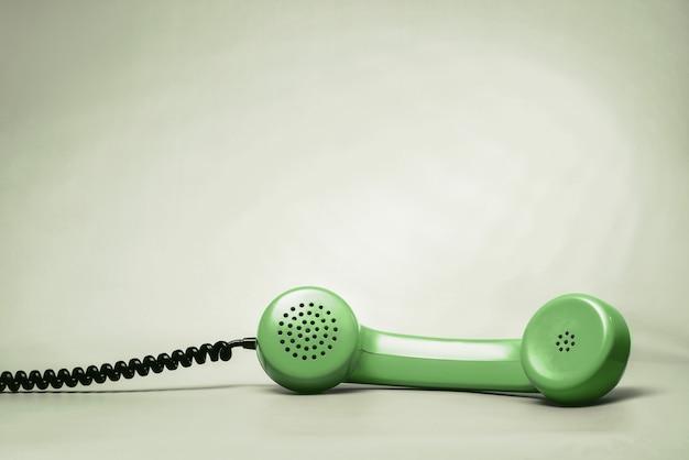 Grüner telefonhörer