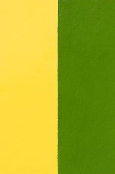 Grüner und gelber wandhintergrund