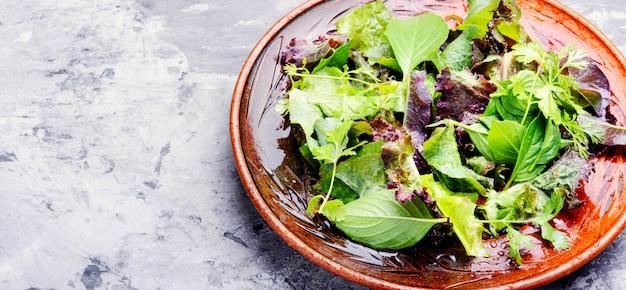 Grüner veganer salat