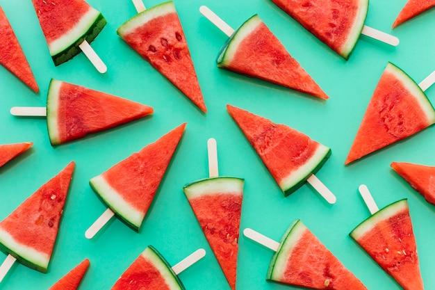 Grüner wassermelonenhintergrund