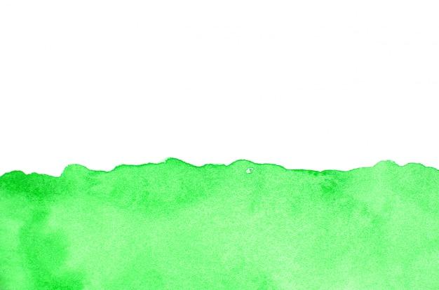 Grünes aquarell auf papier