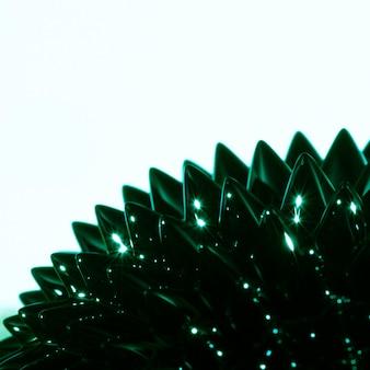 Grünes flüssiges metall mit kopienraum