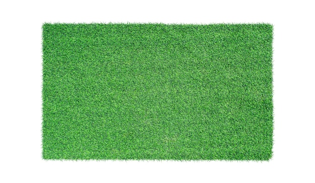 Grünes gras isoliert. ansicht von oben