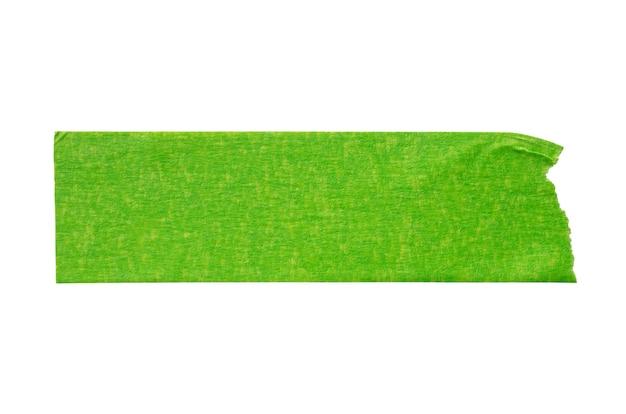 Grünes klebepapierband lokalisiert auf weißem hintergrund