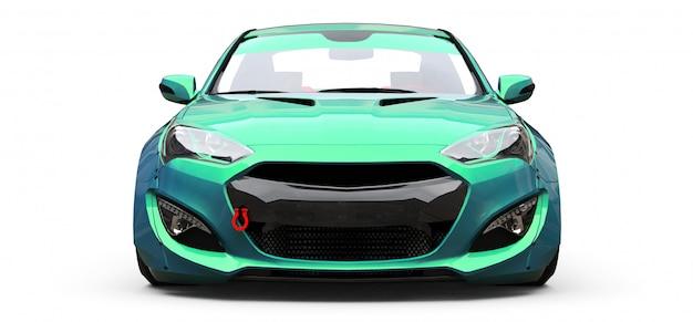 Grünes kleines sportwagencoupé