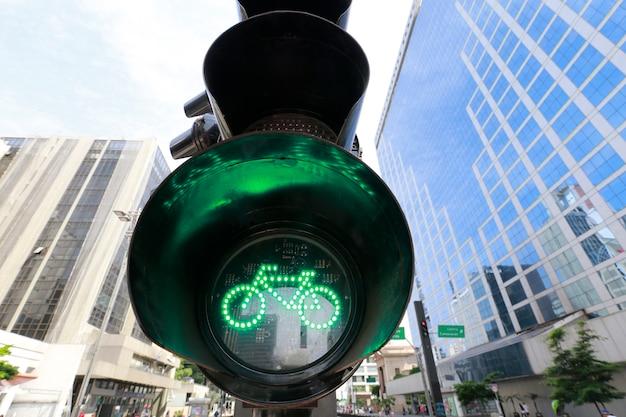 Grünes licht für fahrrad