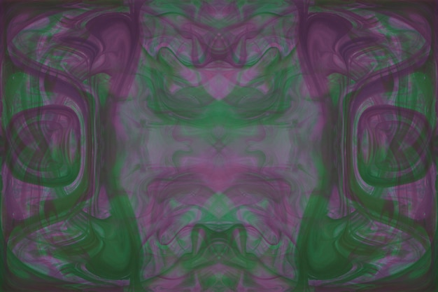 Grünes und rosa abstraktes nahtloses muster des kaleidoskops