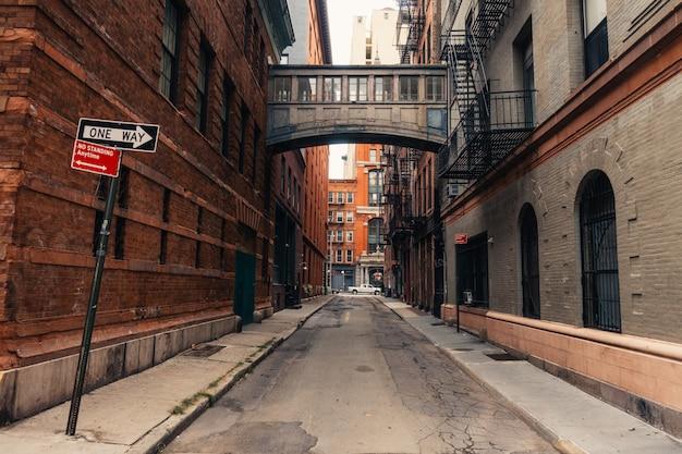 Grundnahrungsmittelstraße in new york city