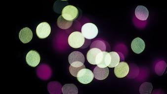 Grünes und violettes Licht