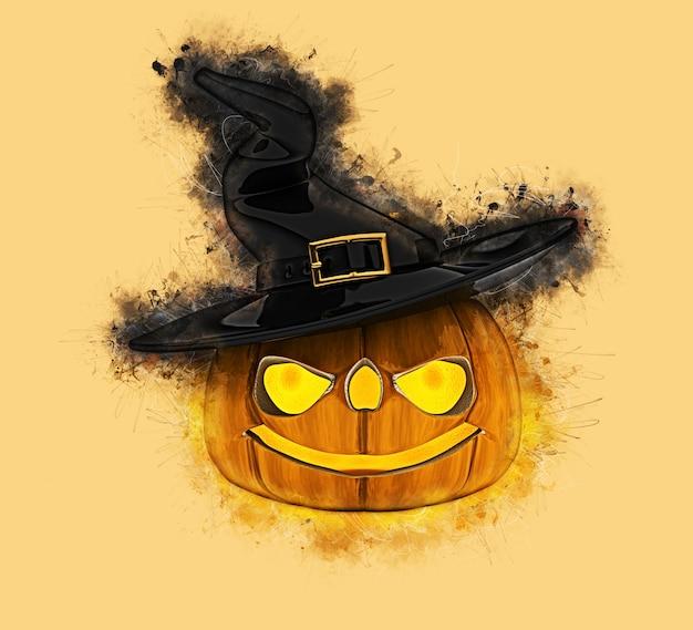 Grunge halloween kürbis hintergrund