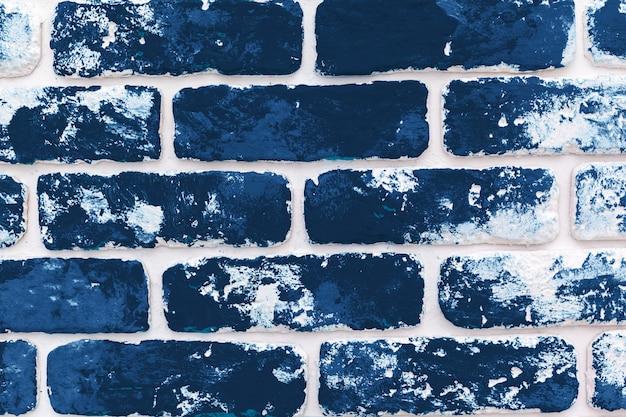 Grunge hintergrund der dunklen klassischen blauen backsteinmauer