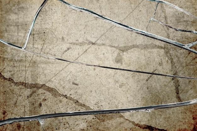 Grunge hintergrund mit gebrochenem glas textur