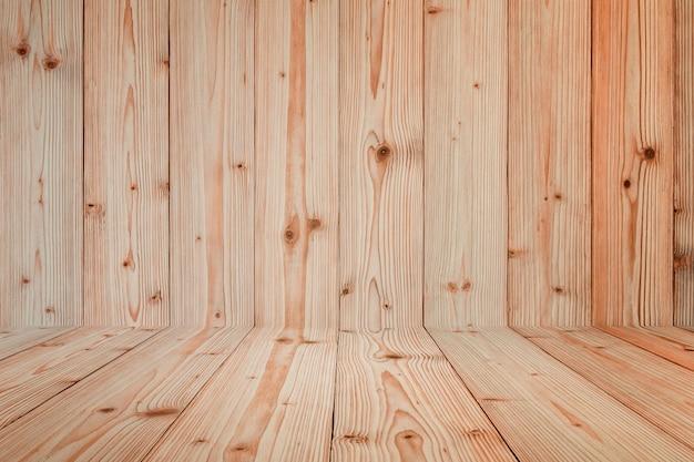 Grunge hölzerne hintergrundwand und -fußboden. hölzerne textur. oberfläche, display-hintergrund, produkt setzen.