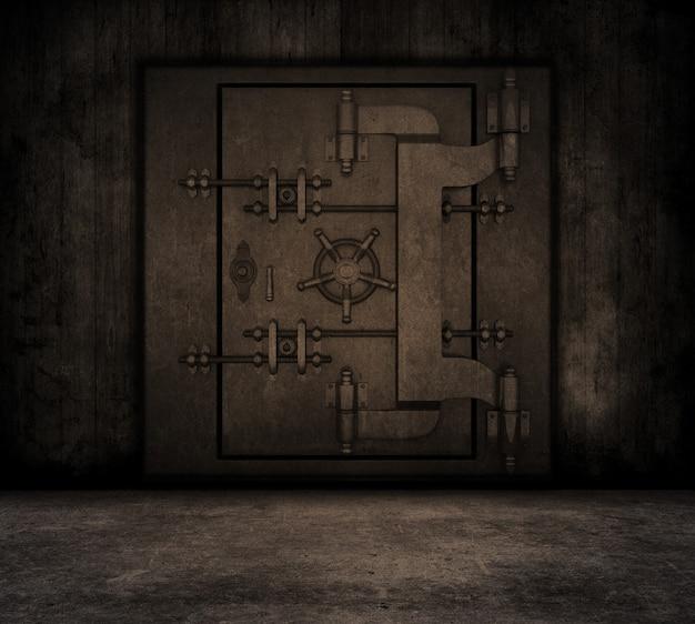Grunge interieur mit banktresor