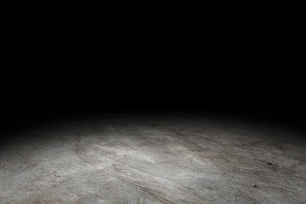 Grunge konkreter fußbodenbeschaffenheitshintergrund für bildschirmanzeige oder montage des produktes