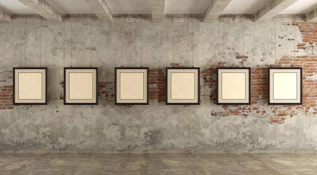 Grunge kunstgalerie
