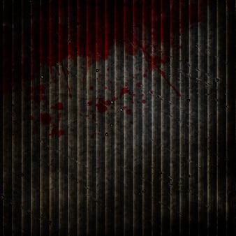 Grunge metall hintergrund mit blutigen splatters