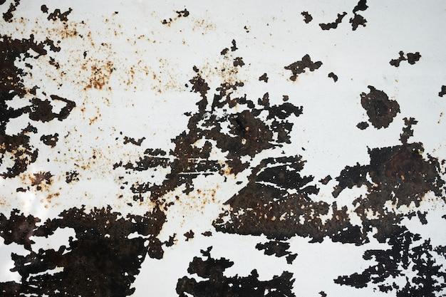Grunge metallbeschaffenheitshintergrund. nahaufnahme geschossen von der oberfläche im boden oder in der wand. alter und industrieller dachboden-stil