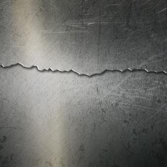 Grunge metallischer hintergrund mit einem rissigen effekt