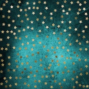 Grunge mit goldenen sternen