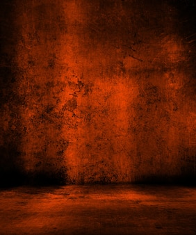 Grunge orange hintergrund ideal für halloween