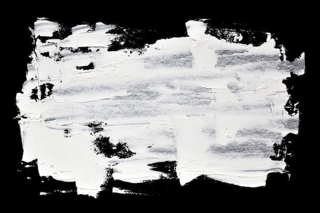 Grunge pinselstriche weißer ölfarbe - abstrakter hintergrund